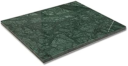 Diflart Natural Green Marble Pastry Cheese And Cutting Serving Baking Board 16x20x0.8 Inch