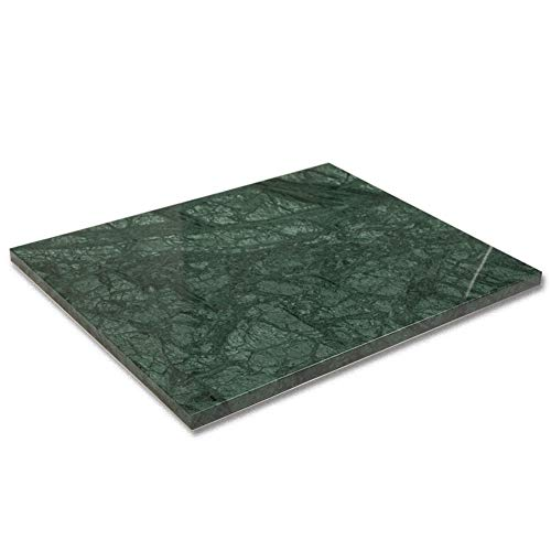 Diflart Natural Green Marble Pastry Cheese And Cutting Serving Board 16x20x0.8 Inch