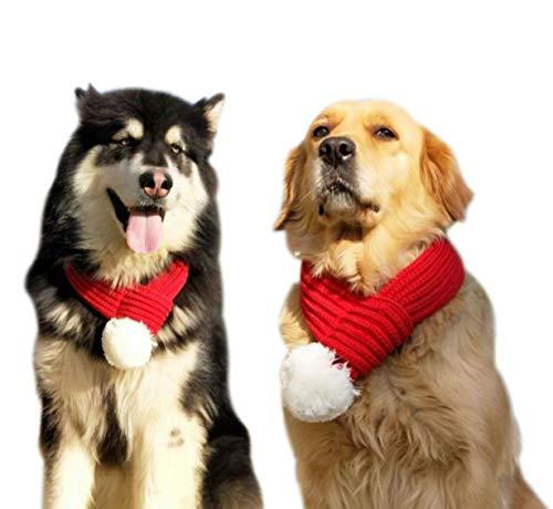 Lanlan Ting Weihnachten Haustier Schal HundehalsbandGarn Weihnachten Hund Schal Cat erer und großer Hundeschal