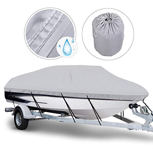 Great Deal! NORTHCAPTAIN 600D Waterproof Trailerable Boat Cover, Fits 17-19 ft V-Hull Tri-Hull Runab...