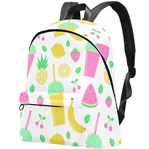 Kinder Rucksack mit Sternenmuster, für Teenager, Mädchen, Schulranzen, Schulranzen, Büchertaschen, Teenager Smoothies Und Frische Früchte 17.3x13.7x5.5 in