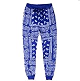 sexyliliforu Unisex Fashion Man Skateboard Loose Hip Hop Swag Bandana Jogger Pants Navy Blue L