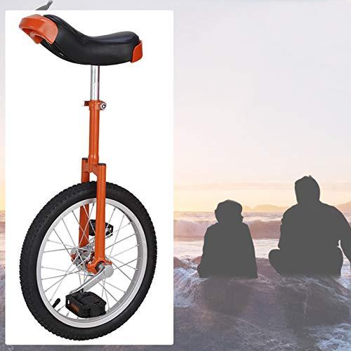 GAOYUY Einrad, Bequem Und Einfach Zu Handhaben Freestyle Einrad 16/18/20 Zoll for Anfänger Kinder Erwachsene Spaß Im Freien (Color : Orange, Size : 20 inches)