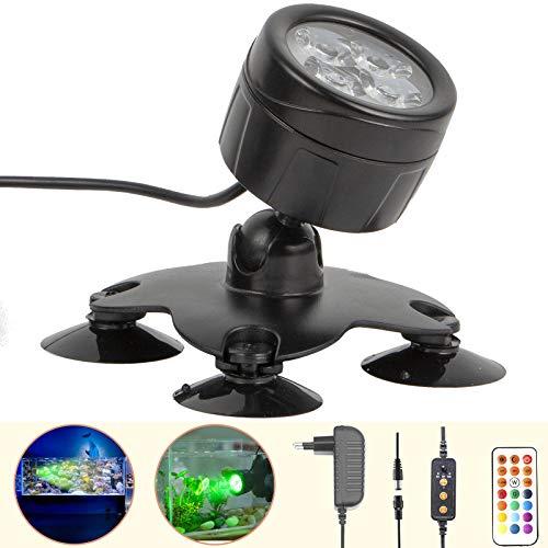 GOESWELL LED Aquarium Beleuchtung,Mondlicht Aquarium Lampe,Dimmbare Fische Aquarium Light mit Fernbedienung,Aquarium Leuchte für Meerwasser-Aquarien und Süßwasser-Aquarien
