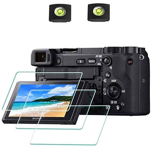 ULBTER pellicola protettiva schermo per A6400 fotocamera Sony Alpha a6400 a6300 a6000 a5000 e Hot Shoe,Durezza 9H vetro temperato per schermo LCD antigraffio anti-impronte anti-bolle [3 pezzi]