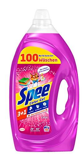 Spee, Color Gel 3+1, Colorwaschmittel, 100 Waschladungen, Reinheit, Strahlkraft und Frische für deine Buntwäsche - zum schlauen Preis