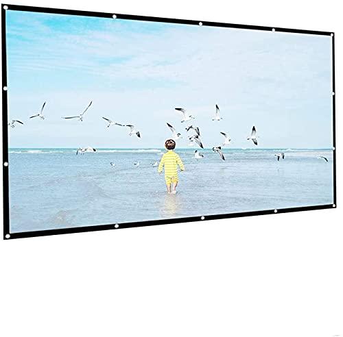 ZHEYANG Pantalla Proyector Tela Proyector 1080P 3D 4K HD Pantalla de películas de proyección Plegable portátil Pantalla de proyector de Alta Densidad 4: 3 Projection Screens Model:G0717