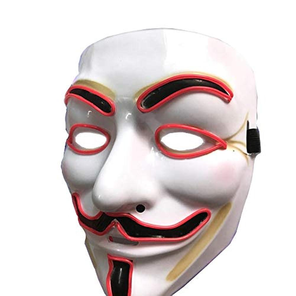 パーティションロータリーなんでもハロウィーンマスクLEDライトアップマスクグローイングマスク、コスプレ、レッド