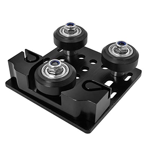Senmubery V-Slot Y-Axis Slider Aluminum Plate Buckle 2020 Aluminum Profile with Timing Belt Buckle for 3D Printer Black