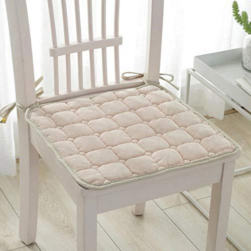 TJQTJQ Cojín Inicio de la colección, de Espuma de Memoria para sillas de ratón, Silla de Comedor Pads Cojines de los Asientos para Sillas de Cocina 39 x 39 CM 6 Pack,C