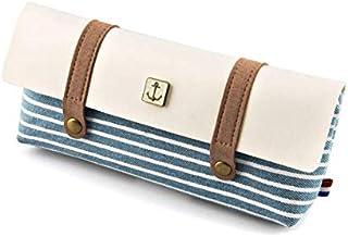 قرطاسية قماش قلم رصاص حقيبة مدرسية حقيبة قلم رصاص لللوازم المدرسية المكتبية أقلام لوازم الكتابة هدية - أزرق