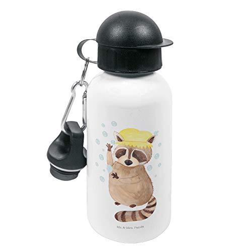 Mr. & Mrs. Panda Kinder, Kindergarten Flasche, Kinder Trinkflasche Waschbär - Farbe Weiß