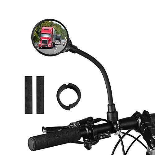 Pulchram Fahrradspiegel,360 ° Verstellbarer Fahrrad Rückspiegel, Bicycle Mirror,Weitwinkel Spiegel Lenkerspiegel für Mountainbikes (1 Stück)