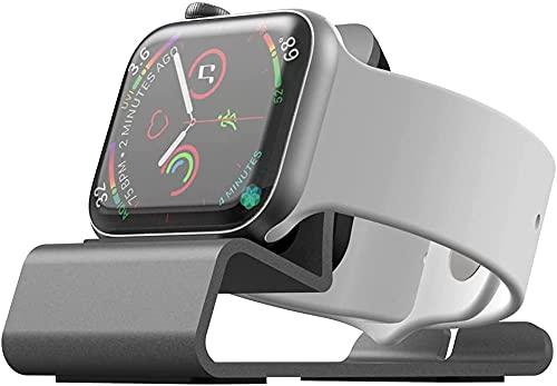 CQTECH Supporto in alluminio per Apple Watch Charger Stand iWatch Dock di ricarica con modalità comodino per Apple Watch Series 5 Series 4 Series 3 Sereis 2 Sereis 1 misura 44mm 40mm 42mm 38mm