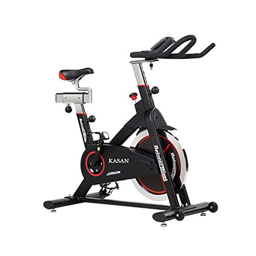 Bicicleta de spinning Bicicleta Estática, Bicicleta De Interior, Equipo De Ejercicio Para Bicicleta De Spinning, Equipo De Fitness Adecuado Para Entrenamiento En Casa, Volante Bidireccional(Color:B)