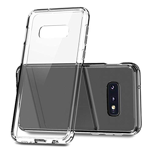 TOZO for Samsung Galaxy S10e Case 5.8 Inch (2019) Hybrid Soft Grip Matte Finish Clear Back Panel Ultra-Thin [Slim Thin Fit] Cover for Samsung Galaxy S10e (Clear)