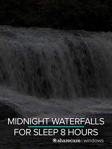 Midnight Waterfalls for Sleep 8 hours