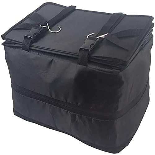 Katolang Organizador portátil de maleta de equipaje,Con organizador de viaje de tres capas para colgar estantes incorporados,Guardar habitación en maletas negro