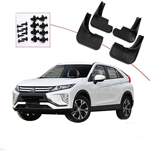 Guardabarros de coche guardabarros Coche Mudflaps Fit For Mitsubishi Eclipse Cross 2018 2019 Mud Flaps Guardabarros Delantero Aleta Fango Guardabarros Trasero Protector De 2020, Lodo Guardabarros Flap