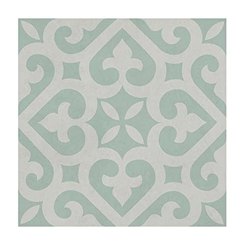 Ancoree Spades Grass Flooring Tile Sticker for Bathroom Kitchen Floor Backsplash Bathroom, Waterproof and Removable Wall Sticker, 30 x 30cm (C,12pcs)