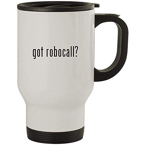 got robocall ?, Edelstahl-Reisebecher, Weiß