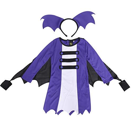 SOIMISS Fantasia de Batman: fantasia de morcego de vampiro para o Dia das Bruxas - Tamanho M