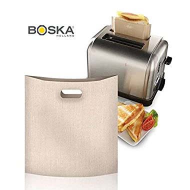 BOSKA Reusable Non-stick Toastabags, Set of 2 Toaster Bags, For Grilled Cheese