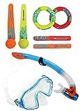 Schildkröt Neopren Diving Set, 6-teiliges Tauchset, je 2 Ringe, Stäbe, Bälle (Einheitsgröße,...
