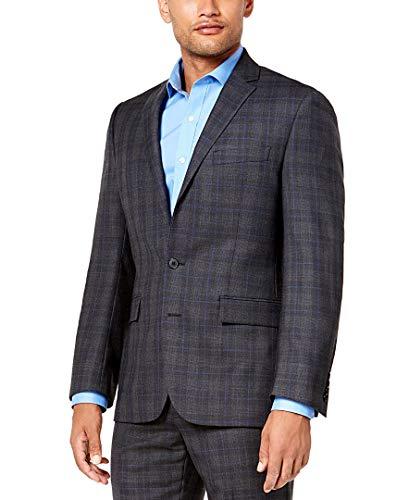 Ryan Seacrest New Distinction Gray Blue Glen Plaid Modern FIT Suit(38R X 32X32)