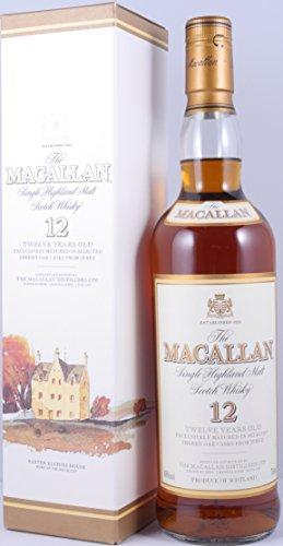 Macallan 12 Years Sherry Oak Single Highland Malt Scotch Whisky 40,0% Vol. 0,7L - perfekte Abfüllung aus den 90ern