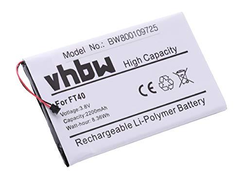 vhbw Li-Polymer Akku 2200mAh (3.8V) passend für Handy Smartphone Handy Motorola Moto G2 XT1526, XT1528