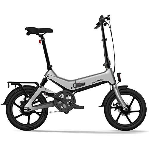 Lixada Bicicleta Eléctrica Plegable de 16 Pulgadas con Asistencia Eléctrica Bicicleta Ciclomotor E-Bike 55 - Rango de 65 km