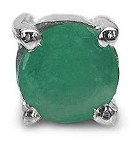 Jewelry-Schmidt-Men's earrings Mr. earring emerald-0, 25 carat silver