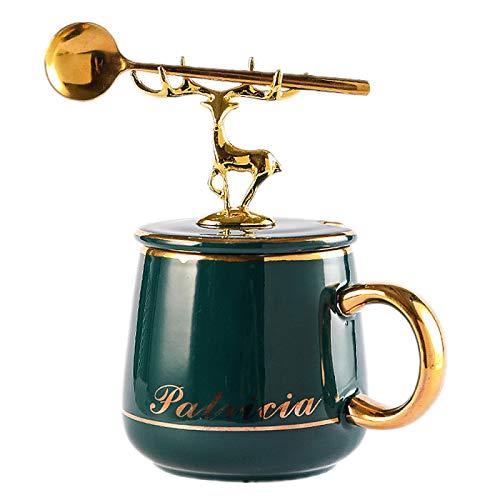 HRDZ Taza de café pequeño Traje Exquisito de Lujo Taza de cerámica casa Pareja té de la Tarde Taza de té con platillo