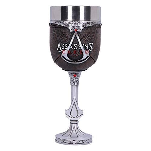Nemesis Now Copa Decorativa Assassins Creed Brotherhood, Resina, Acciaio inossidabile, Marrón, 1.25 picometer