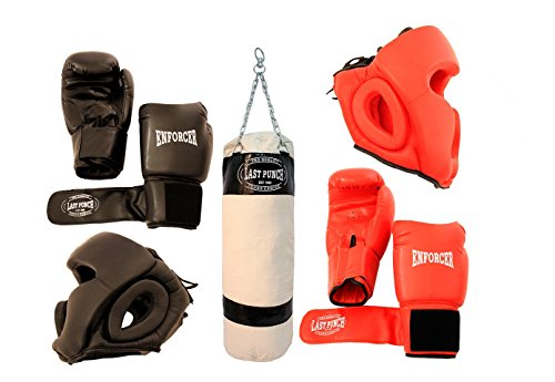 Last Punch Boxing Paket New 2 Paar Headgears 2 Paar pro Boxhandschuhe und Boxsack