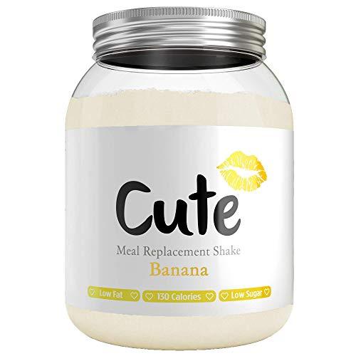 CUTE NUTRITION® Diät-Shake zum Abnehmen + Energy Boost | 500g | Mahlzeitenersatz Shake Banane inkl. Trainingsplan | Protein-Pulver Low Carb | Eiweißpulver GVO-frei