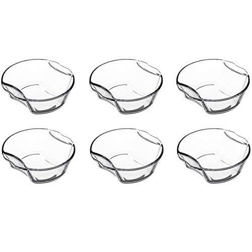 FIVE Simply Smart - Lot de 6 Mini-Plats Ronds en Verre 16cm Transparent