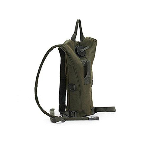 Symboat 3L agua bolsa de vejiga Militar senderismo Camping mochila de hidratación Camelbak doble bolsas de hombro, Army Green