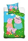 'Peppa Pig Baby Bettwäsche Schweinchen Peppa PP202014 100 x 135 cm + 40 x 60 cm, Mehrfarbig
