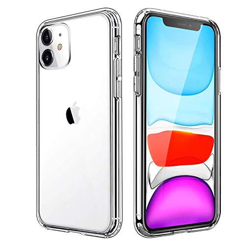 Eiselen Hülle Kompatibel mit iPhone 11, iPhone 11 Schutzhülle, Stoßfest Anti-Gelb Anti-Kratzer Vergilbungsfrei Durchsichtig Handyhülle Soft Silikon Bumper Case Kompatibel mit iPhone 11 - Transparent