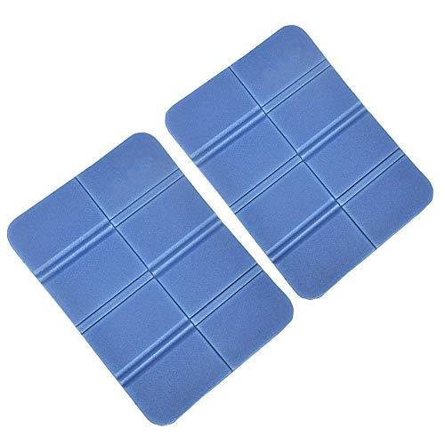 Kaxich 2 Stück Tragbar Faltbare Sitzkissen Isomatte Wasserdicht Sitzmatte Thermo Sitz Pad für Outdoor Garten Camping Picknick Reise