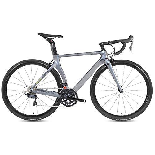 Yinhai Fahrräder Shimano UT R8000 22-Gang Rennrad 700C Räder Rennrad Doppel-V-Bremse Fahrräder,Silver 52cm