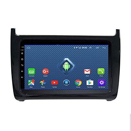 DGDD Android 10.0 9 Pulgadas 2.5D HD Pantalla Táctil Navegación GPS Coche Estéreo Radio Ser Aplicable para VW Polo (2011-2018) Apoyo Manos Libres WiFi 4G FM Am SWC DSP Mirror Link 1080P 2G+32G
