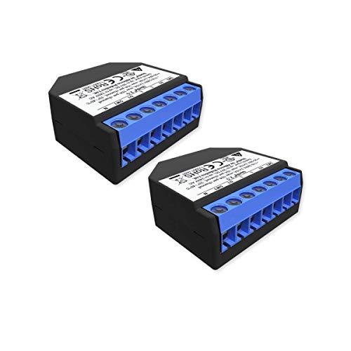 Shelly 2.5 Wireless Dual relè Interruttore Intelligente domotica, Amazon Alexa e Google Home 2 pz