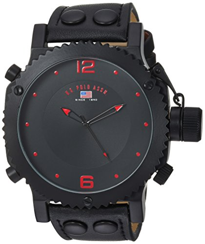 U.S. Polo Assn. Classic Men's US4023 Watch with Black Leather Band