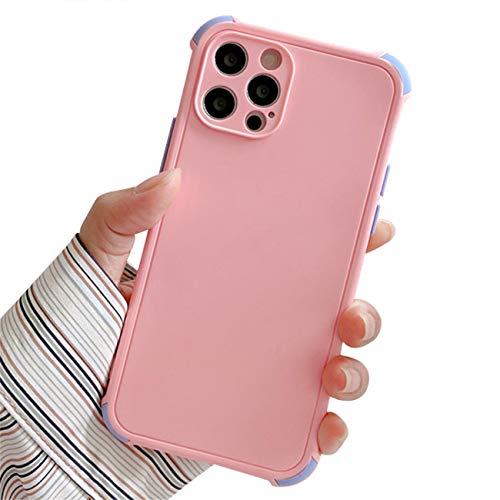 Bakicey Funda de silicona líquida para iPhone SE 2020, iPhone 8, funda de silicona líquida con protección completa, antigolpes, TPU resistente a los arañazos, para iPhone SE 2020/7/8, color rosa