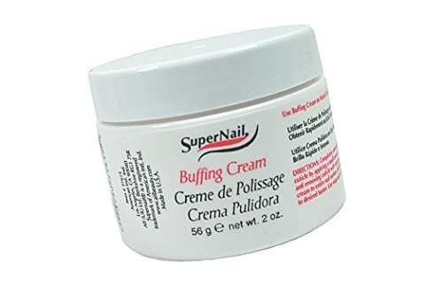SuperNail Buffing Cream Apply to nail and buff to gain a shiny lustrous finish.The finest, softest buffing cream. - Size 2 Fl.oz / 56 g.