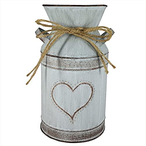 Duotar Vaso Com Corda,Vaso de ferro galvanizado com corda estilo vintage rústico para decoração de casa