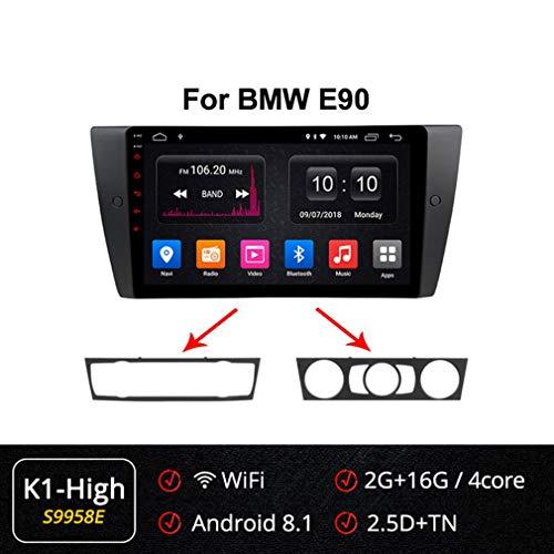 Best Price XBRMMM Android 9.0 9 Car Stereo Sat Nav Navigation 2 Din for BMW E90 E91 E92 E93 Support...